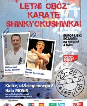 Międzynarodowy Obóz Letni Karate Shinkyokushinkai-Kielce 08.2016
